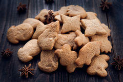 Aromatic and fresh gingerbread cookies Stock Image