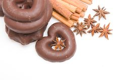 Aromatic gingerbread Stock Images