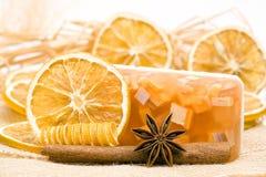 Aromatic glycerin soap Stock Photography