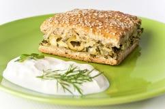 Aromatic green's pie Stock Photos