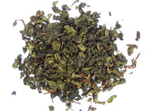 Free Aromatic Green Tea Leaves Royalty Free Stock Photography - 3320377