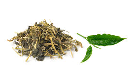Aromatic green tea on white background Stock Image