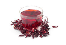 Aromatic Hibiscus tea Stock Image