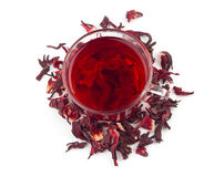 Aromatic Hibiscus tea Stock Photography