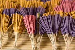 Aromatic incense sticks Stock Images