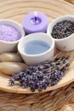 Aromatic lavender bath Royalty Free Stock Photos