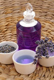 Aromatic lavender bath stock images