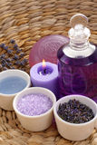 Aromatic lavender bath Royalty Free Stock Image