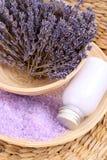 Aromatic lavender bath Stock Photography