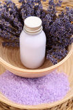 Aromatic lavender bath Royalty Free Stock Photo