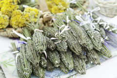 Aromatic Lavender in a market Stock Image