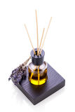 Aromatic lavender oil fragrant object isolated Stock Photos