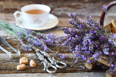 Aromatic lavender tea Royalty Free Stock Image