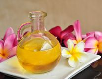 Aromatic massage oil royalty free stock photography