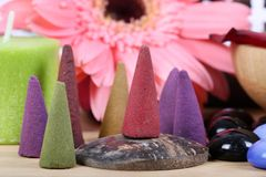 Aromatic mud cones Royalty Free Stock Images