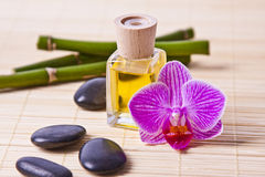 Aromatic Oil Bottle Massage Stock Photography