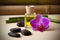 Aromatic Oil Bottle Massage Royalty Free Stock Photo