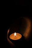 Aromatic oil burner. Candle in aromatic oil burner stock photography