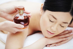 Aromatic oil for massage Royalty Free Stock Image