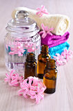Aromatic oil for Spa. Stock Photos