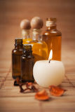 Aromatic Oils and Candle Royalty Free Stock Images