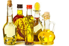Aromatic olive oil. Stock Photo