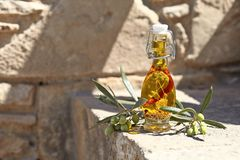 Aromatic olive oil Royalty Free Stock Photography