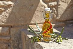 Aromatic olive oil Royalty Free Stock Photo
