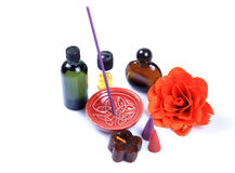 Aromatic perfume items Royalty Free Stock Photo