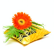 Aromatic Pillow And Flower Stock Photos