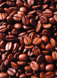 Aromatic Roasted Coffee Bean Background. Roasted brown aromatic coffee beans, background Stock Image