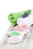 Aromatic soap and bath salt Stock Photos
