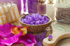 Aromatic spa σύνολο Στοκ φωτογραφία με δικαίωμα ελεύθερης χρήσης