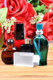 Aromatic spa oils and perfumes Royalty Free Stock Photography