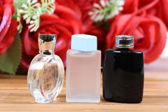 Aromatic spa oils and perfumes Royalty Free Stock Photos