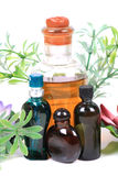 Aromatic spa oils and perfumes Royalty Free Stock Images
