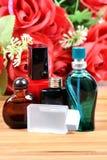 Aromatic spa oliën en parfums royalty-vrije stock fotografie