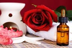 Aromatic spa olie Stock Foto's