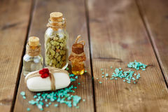 Aromatic spa products Royalty Free Stock Photos