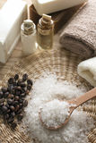 Aromatic spa set Royalty Free Stock Images
