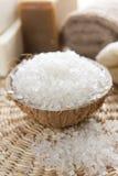 Aromatic spa set with sea salt Stock Image