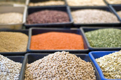 Aromatic spices in acre market Israel Stock Photo
