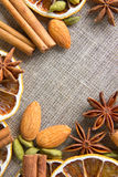Aromatic spices background Stock Photo
