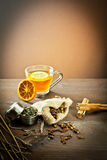 Aromatic spices and decoration for tea Stock Photography