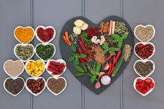 Aromatic Spices and Herbs Stock Photos