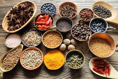 Aromatic spices. Stock Images