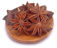Aromatic star anise. Over white background Royalty Free Stock Photography