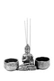Aromatic sticks and lord budhha idol Royalty Free Stock Photos