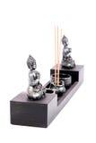 Aromatic sticks and lord budhha idols Royalty Free Stock Photography