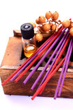 Aromatic sticks and oil Stock Images